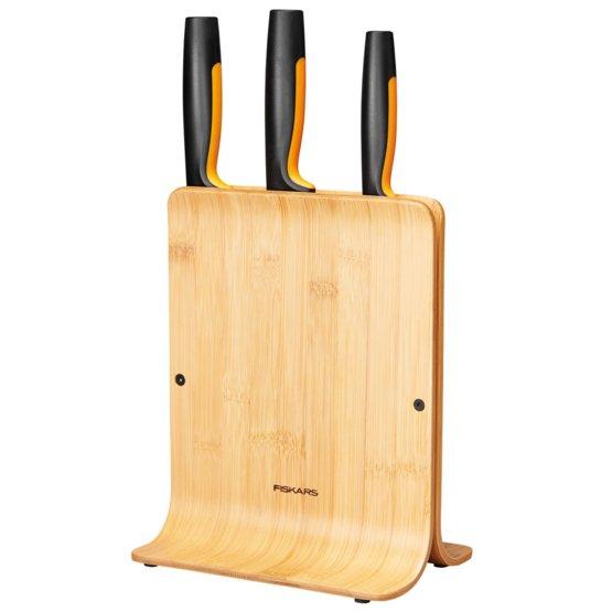 Zestaw 3 noży w bambusowym bloku Functional Form