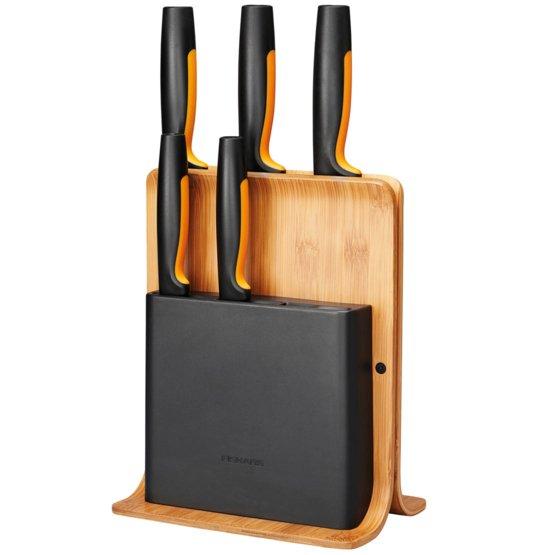 Zestaw 5 noży w bambusowym bloku Functional Form